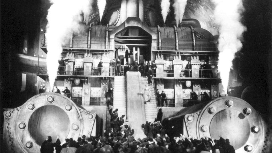 """A scene from Fritz Lang's classic """"Metropolis."""""""