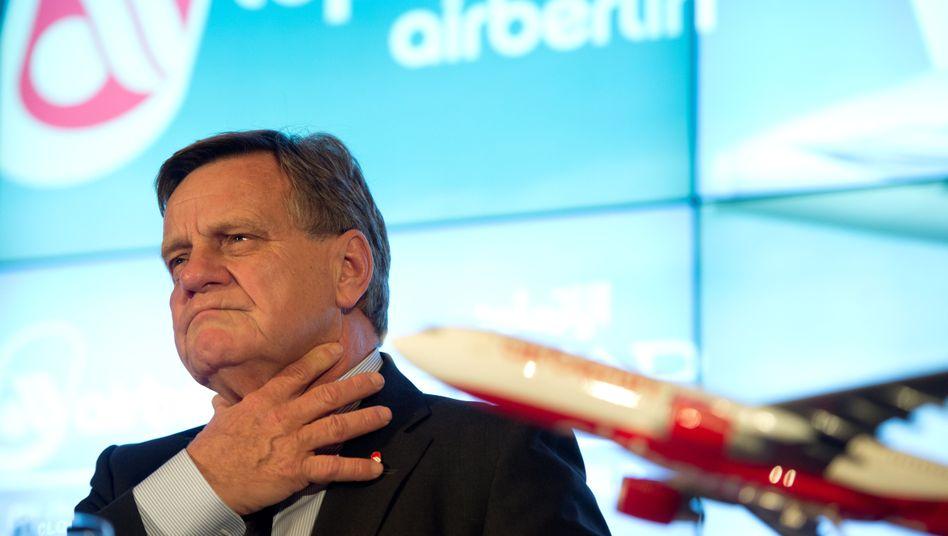 """Air-Berlin-Chef Mehdorn: """"Da stellt sich überhaupt kein Schuldbewusstsein ein"""""""