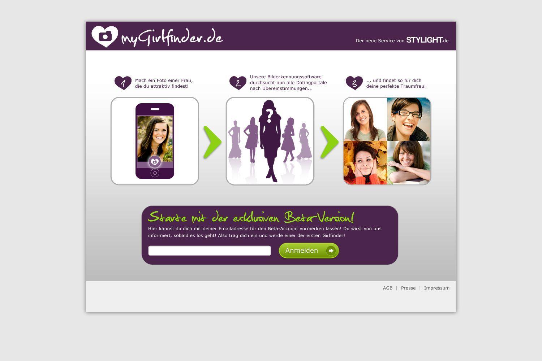NUR ALS ZITAT Screenshot / Aprilscherz / Girlfinder