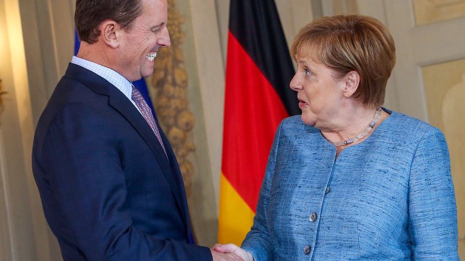 US-Botschafter Grenell, Kanzlerin Merkel (Archiv)