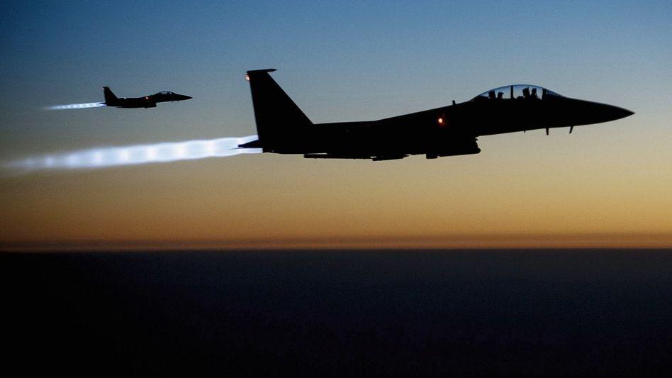 Amerikanische F-15 nach Einsatz in Syrien