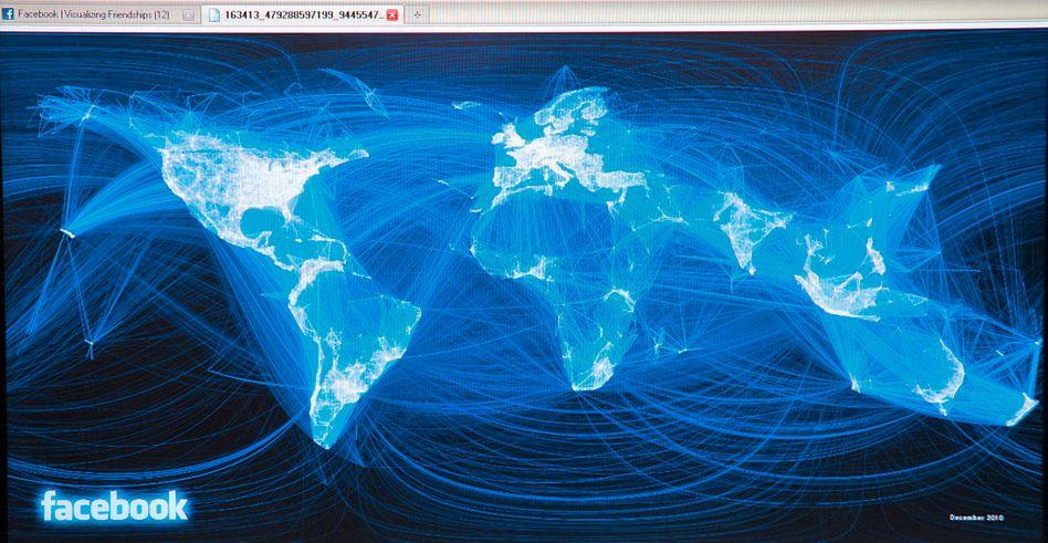 Facebook-Kontakte: Fünf Web-Konzerne teilen sich 40 Prozent der Aufmerksamkeit
