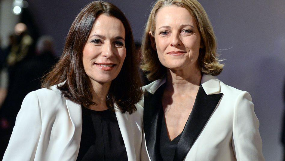 Anne Will und Miriam Meckel 2017 bei der Eröffnung der Elbphilharmonie in Hamburg