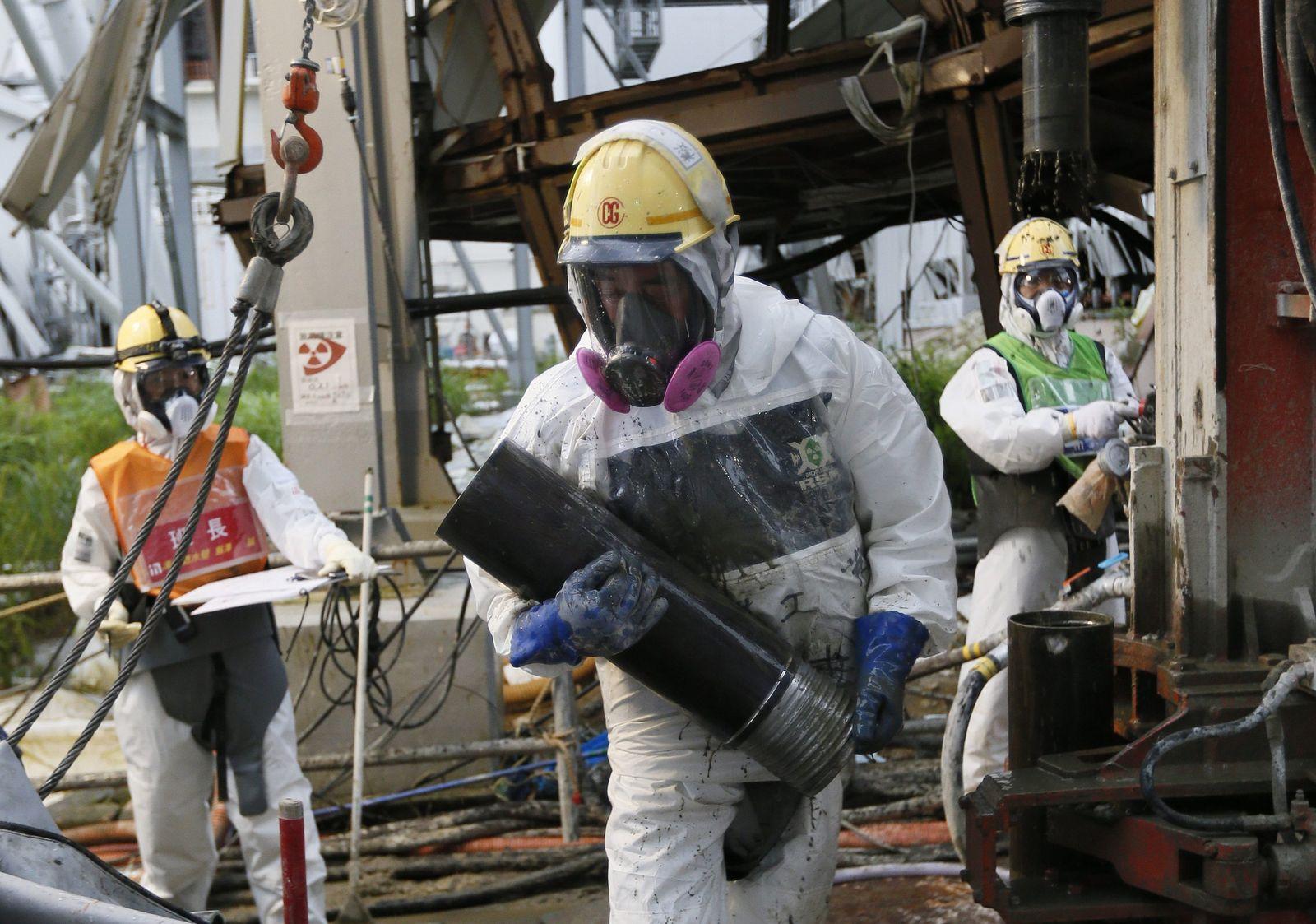 Atomarbeiter in Fukushima