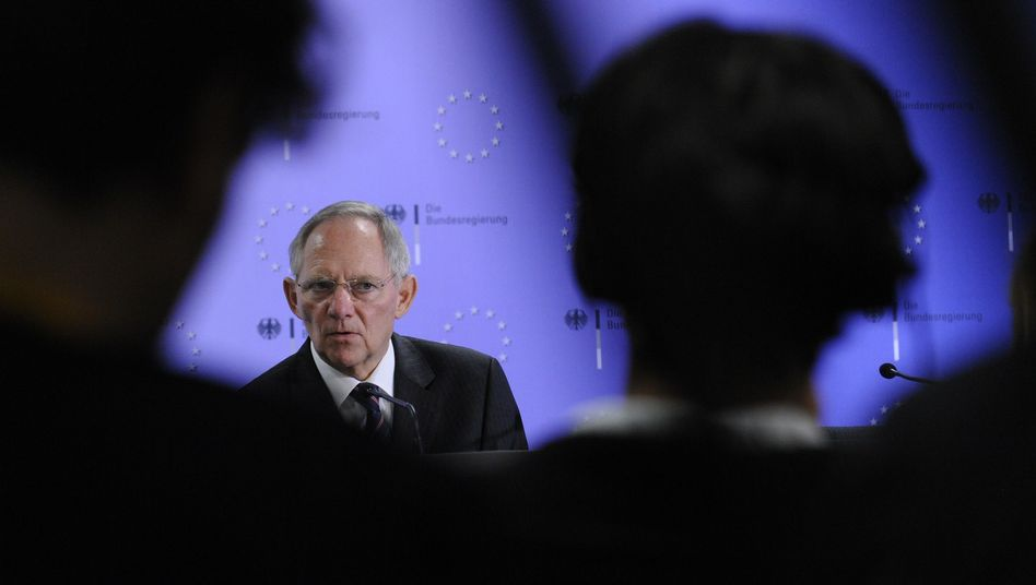 German Finance Minister Wolfgang Schäuble made it clear that he's no fan of a financial transaction tax, even though his government supports it.