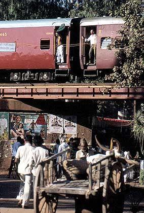 Hubli: In Indien gibt es alle Arten von Forbewegungsmitteln