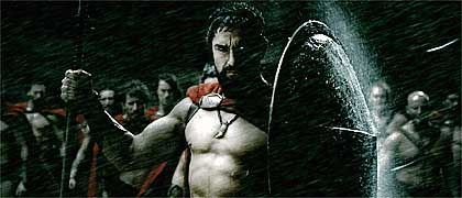 """Gerard Butler als Leonidas in """"300"""": Rooting for the bad guy"""