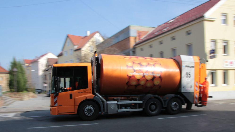 Unterwegs mit der Müllabfuhr: Die orangen Engel