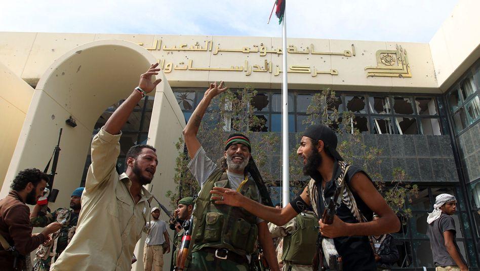 Milizenkämpfer in Sirt: Erfolge im Kampf gegen Gaddafi-Truppen