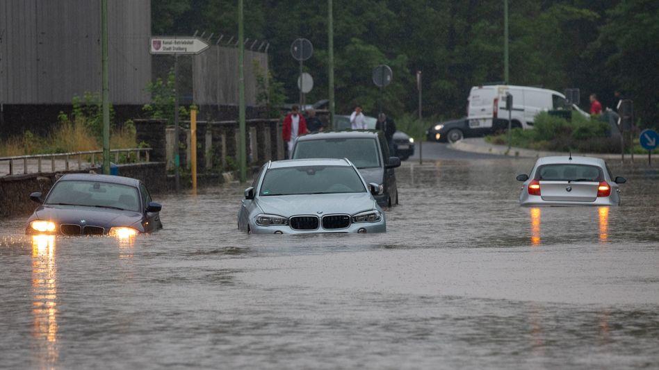 Überflutungen in Stolberg