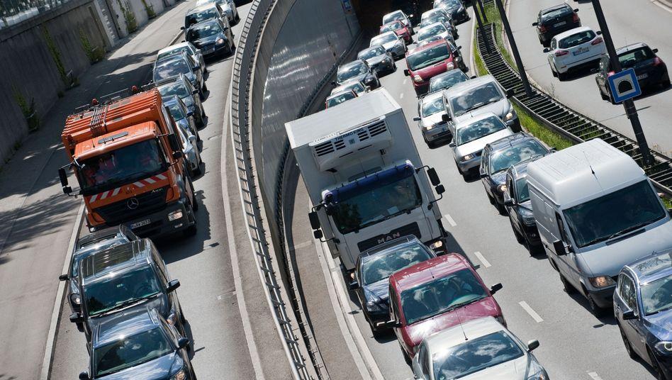 Stau in München: Der Verkehr ist Hauptgrund für die Stickoxid-Belastung