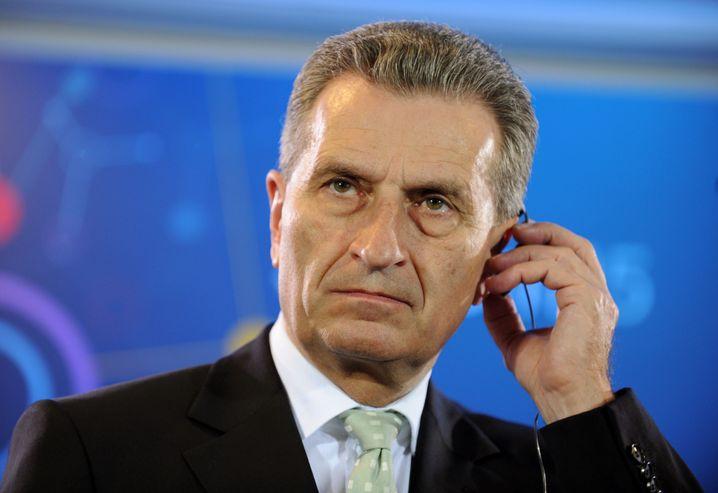 Digitalkommissar Günther Oettinger: Nur zwei Treffen mit NGOs