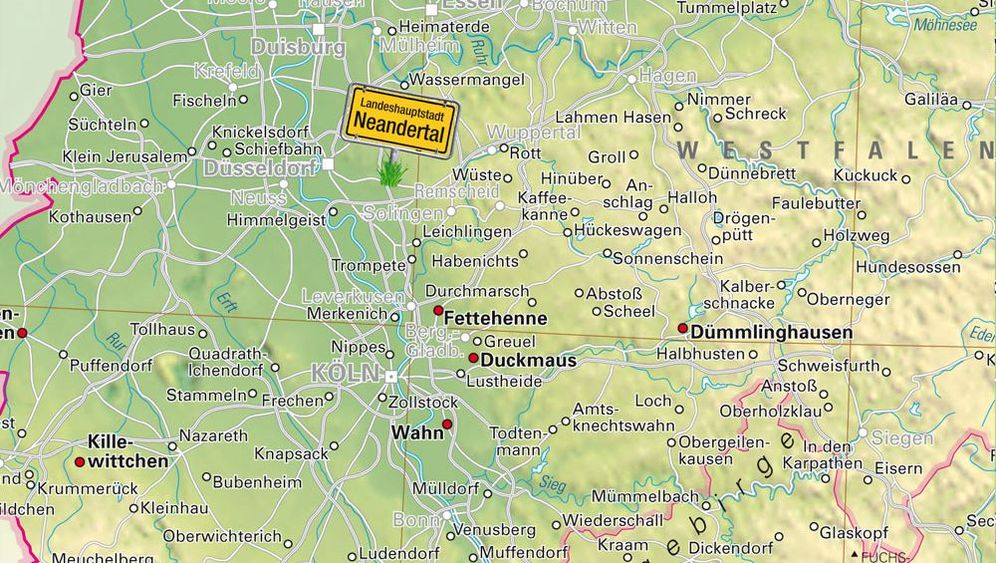 """Atlas der 999 Seltsamen Ortsnamen"": Bunte Republik Deutschland"