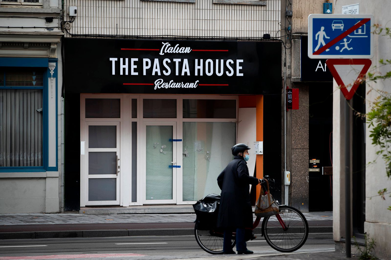 Illustration picture shows The Pasta House restaurant in Deurne, Antwerp, where a shooting took place in the early hours