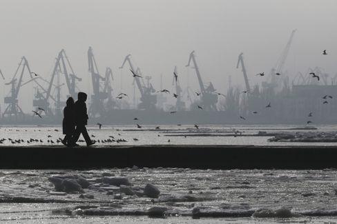 Hafenstadt Mariupol (Archivbild): Angst vor einem Angriff der Separatisten