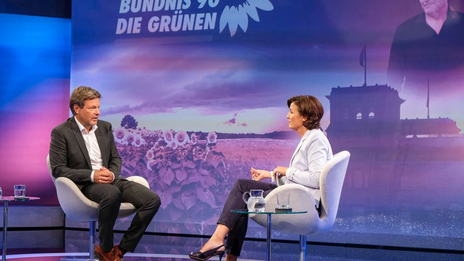 Robert Habeck zu Gast bei Moderatorin Sandra Maischberger