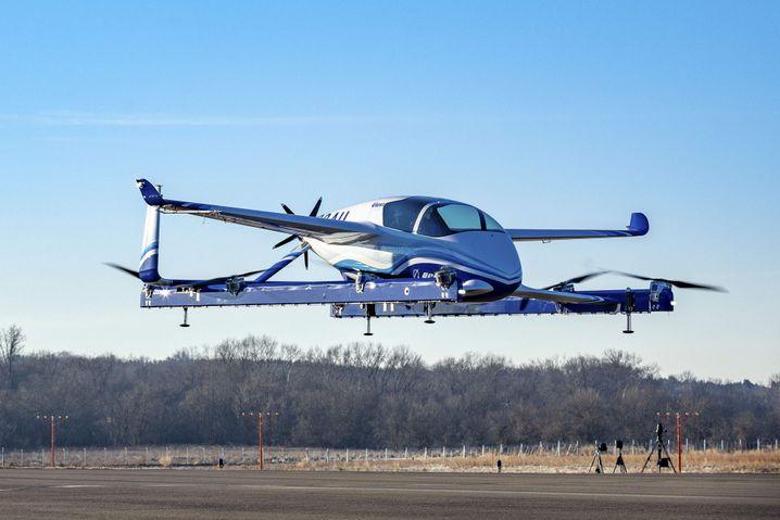 Der Prototyp beim Testflug