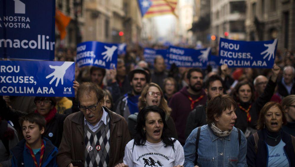 Spanien: 160.000 Demonstranten fordern Aufnahme von mehr Flüchtlingen