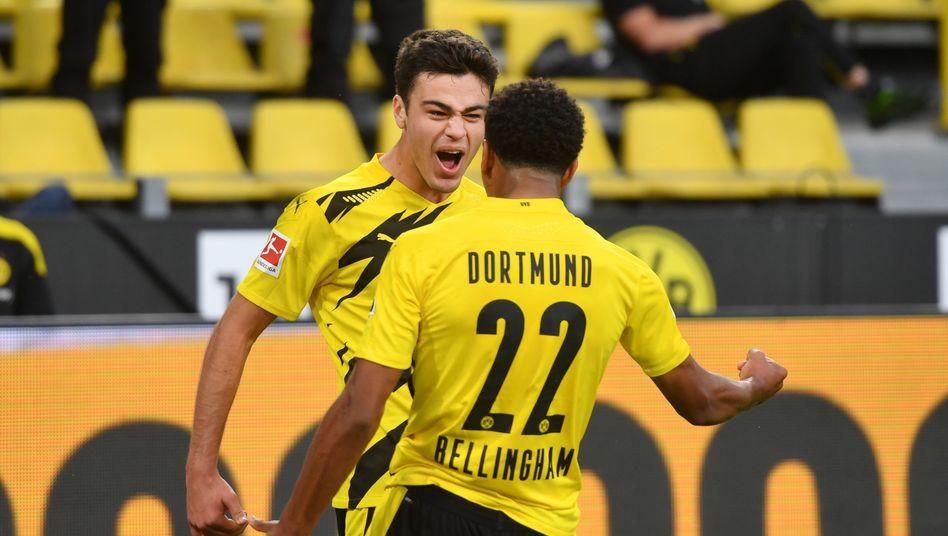 Autofahren dürfen sie noch nicht, in der Bundesliga jubeln schon: Gio Reyna und Jude Bellingham