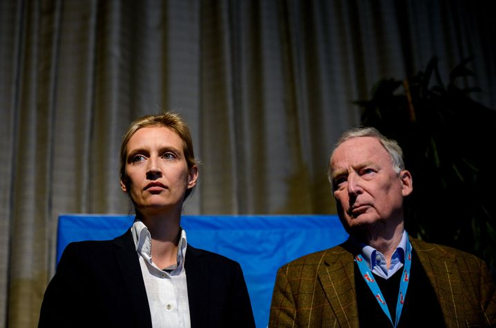AfD lead candidates Alice Weidel and Alexander Gauland