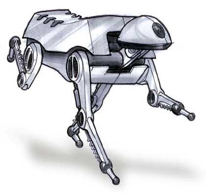 """""""Big Dog"""" von Boston Dynamics (Konzeptzeichnung): Unverwüstlicher Kamerad"""