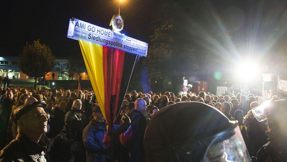 Demonstration in Erfurt: Es kam zu kleineren Auseinandersetzungen