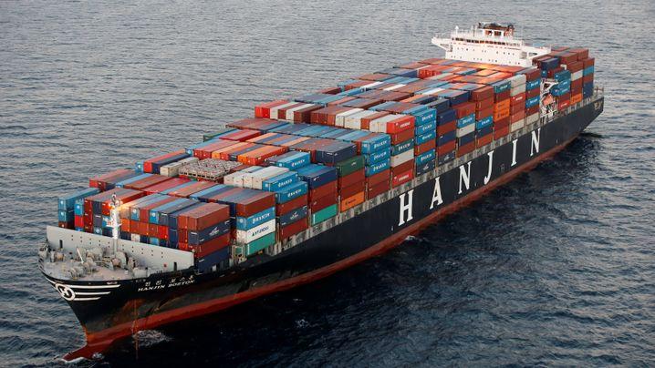 Pleite-Frachter von Hanjin: Wasser und Essen werden knapp