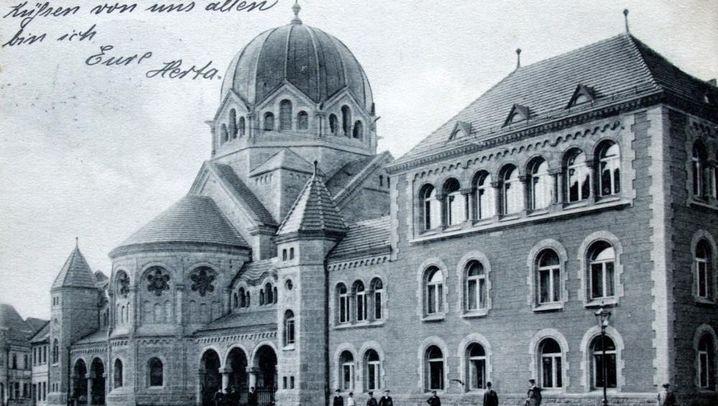 Der Ort der Synagoge Dessau, 1915 und 2016. (Fotos: Alexander Jäckel/Unbekannt)