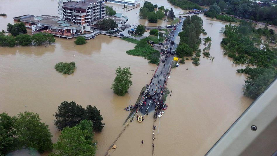 Hochwasser auf dem Balkan: Eine Million Menschen in Bosnien von Flut betroffen