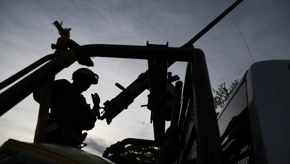 Schwer bewaffnet: Einsatzkräfte in Mexiko (Archivbild)