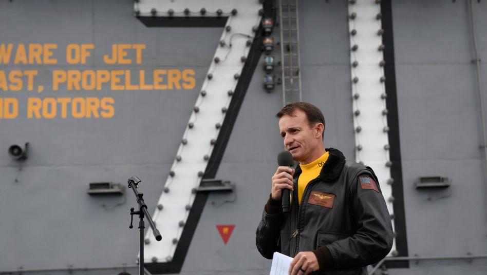 """Brett Crozier, abgesetzter Kommandant der """"USS Theodore Roosevelt"""" (Archivbild)"""