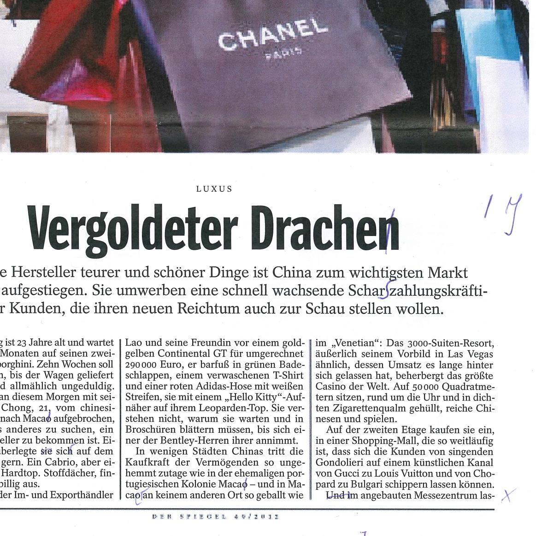 """EINMALIGE VERWENDUNG Scan: """"Vergoldeter Drachen"""""""