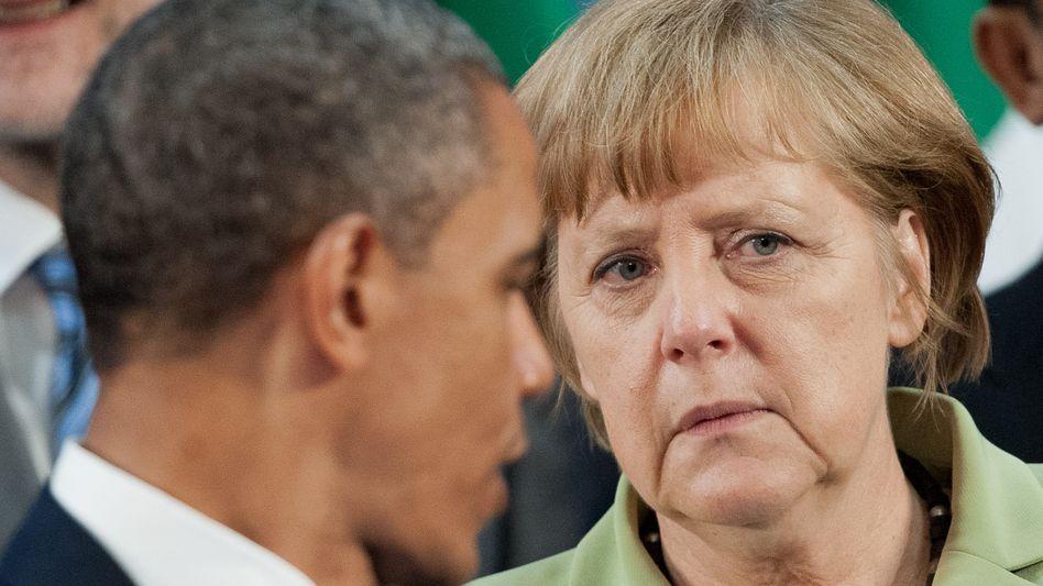 Kanzlerin Merkel, US-Präsident Obama (im Juni 2012): Schwieriges Treffen