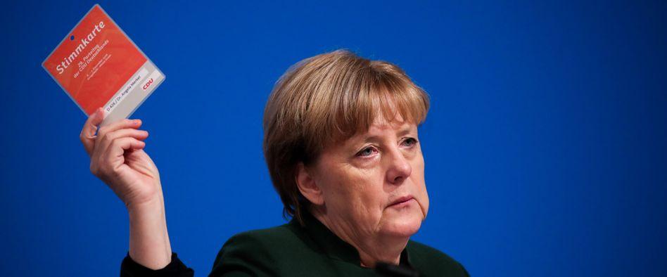 Kanzlerin Angela Merkel auf dem CDU-Parteitag