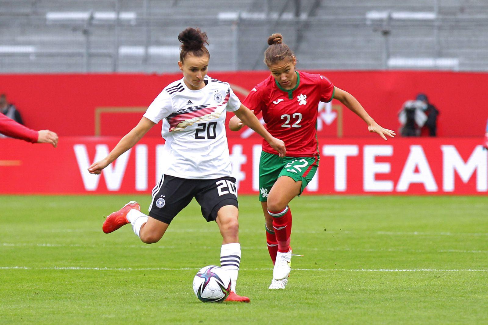 WM-Qualifikation Frauen: Deutschland vs. Bulgarien, 18.09.21 Fussball, WM-Qualifikation Frauen: Deutschland vs. Bulgari