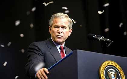 """Amtsinhaber Bush: """"Die Wall Street war mal ein republikanischer Monolith"""""""