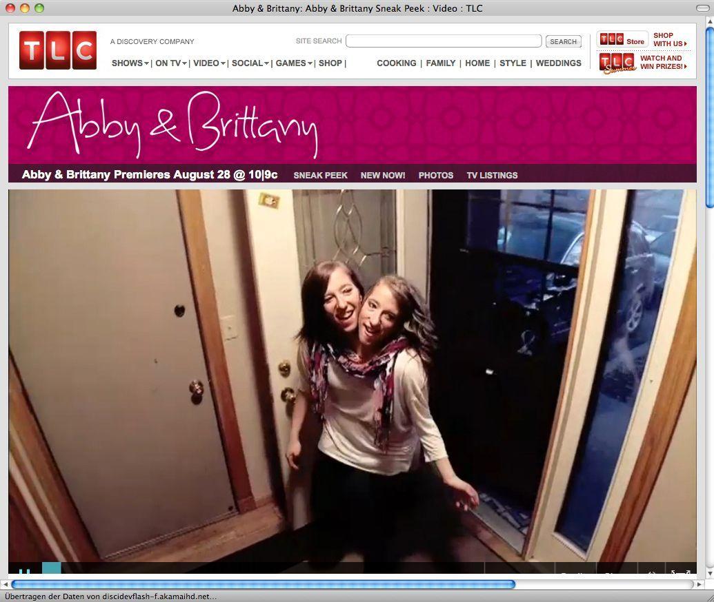 EINMALIGE VERWENDUNG NUR ALS ZITAT TLC TV Show/ Abby & Brittany