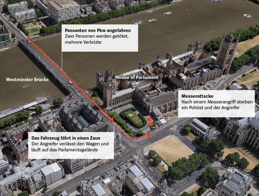 Karte London Anschlag 22.3.2017