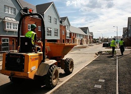 The shares of British homebuilders took a severe beating as the UK's housing market fell apart.