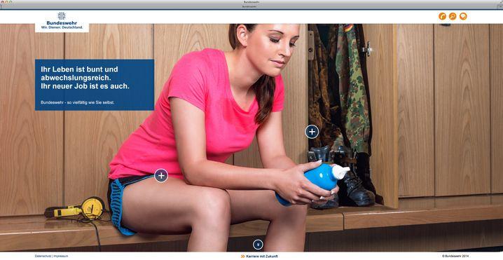 Kampagnenbild von der Seite www.frauen-in-der-bundeswehr.de