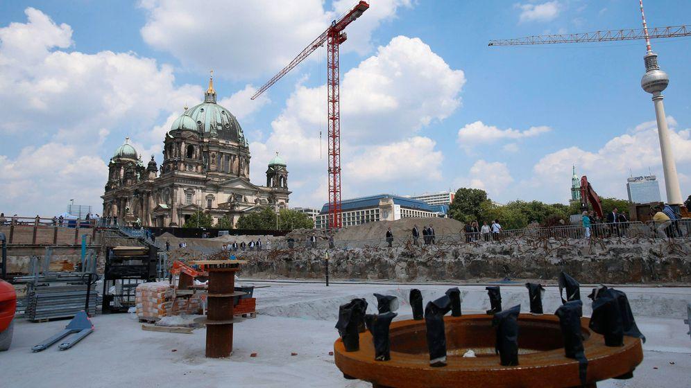 Grundsteinlegung: Merkels Schloss