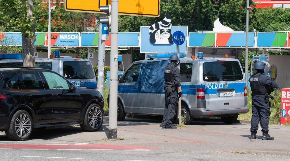 Polizeieinsatz an der Herschelstraße in Hannover