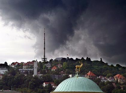 Stuttgart: das Unwetter braut sich zusammen