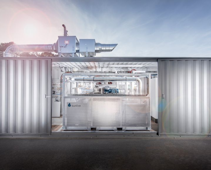 Reversible Electrolysis Container der Firma Sunfire