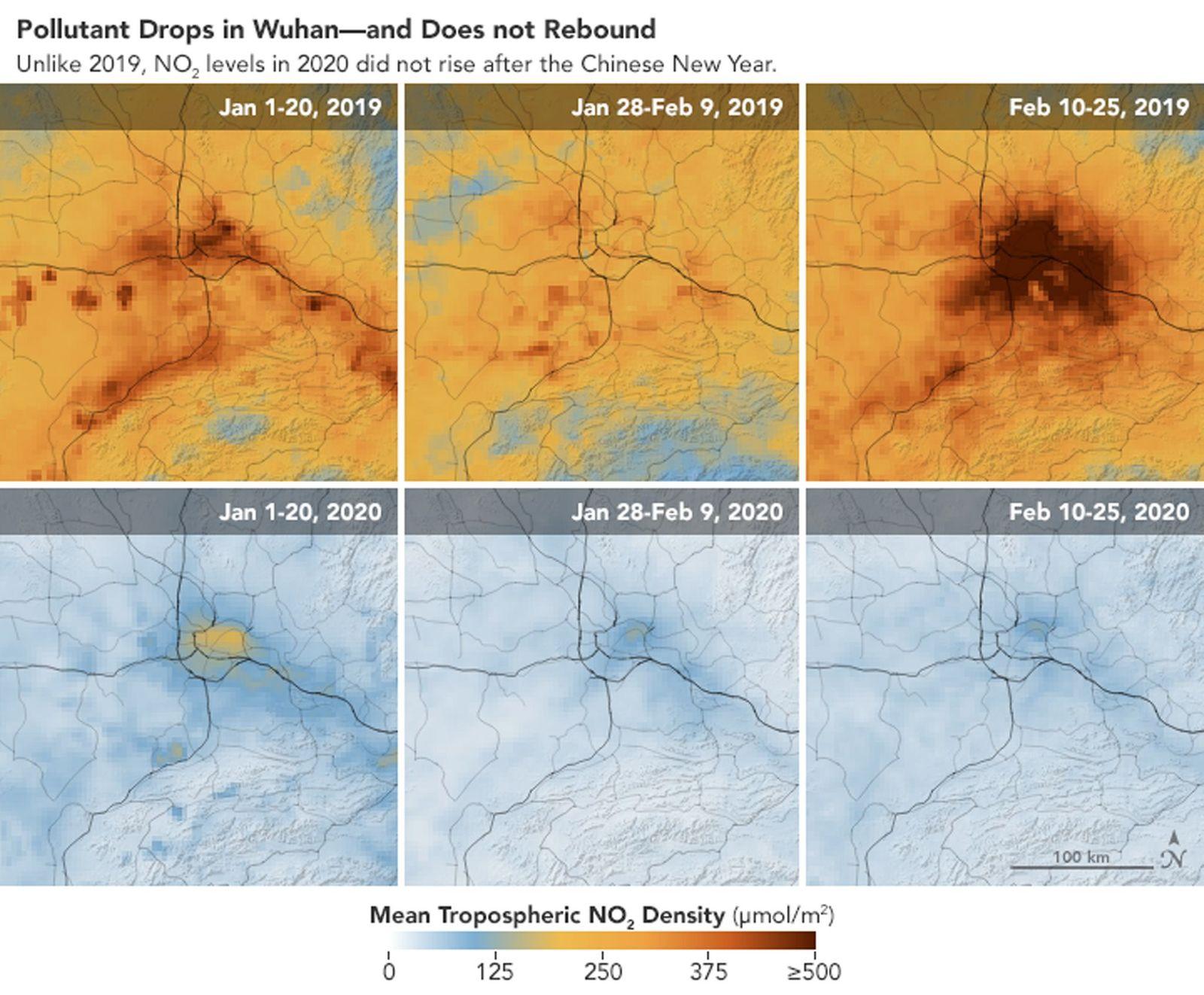 Airborne nitrogen dioxide plummets over China - 01 Mar 2020