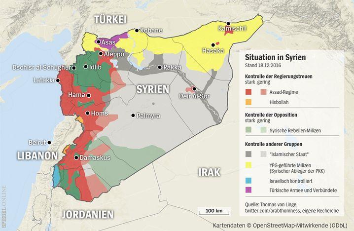 Machtverteilung in Syrien