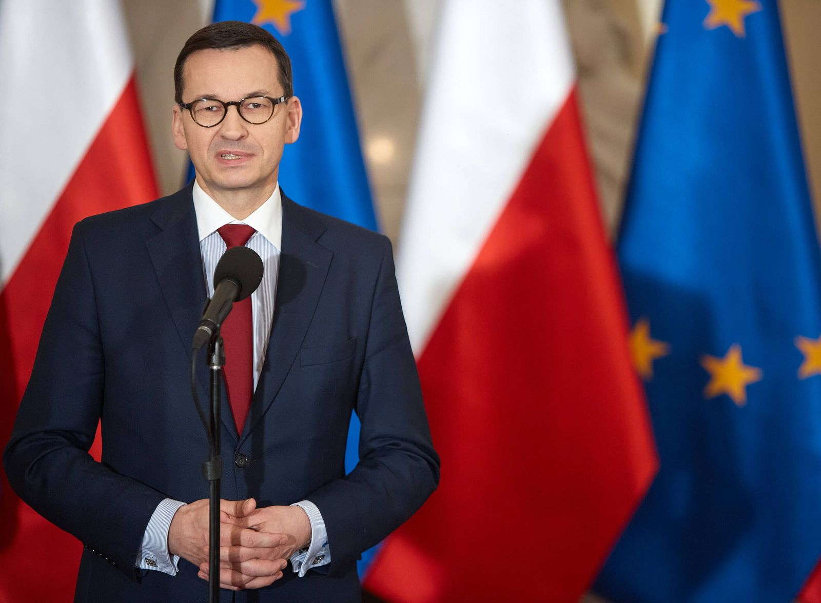 January 10, 2020: Polish Prime Minister MATEUSZ MORAWIECKI During The Ceremony of Handing Over Appointments To Two New V