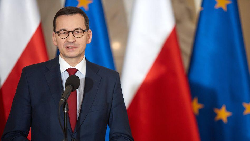 """Polens Ministerpräsident Mateusz Morawiecki: """"Moskau darf nie in der Lage sein, die EU mit einem Gaslieferstopp zu erpressen."""""""