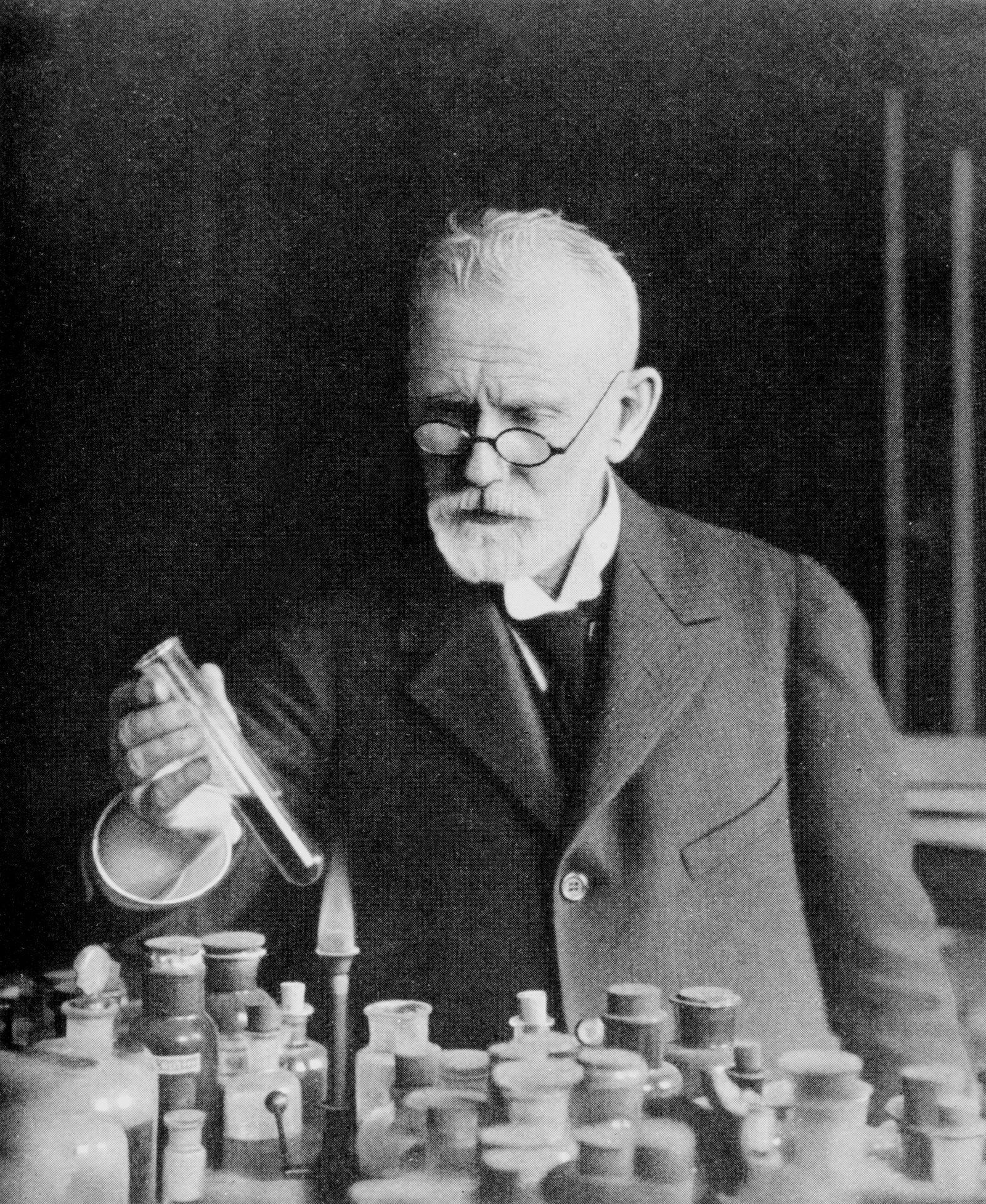 Paul Ehrlich, German bacteriologist, c 1910.