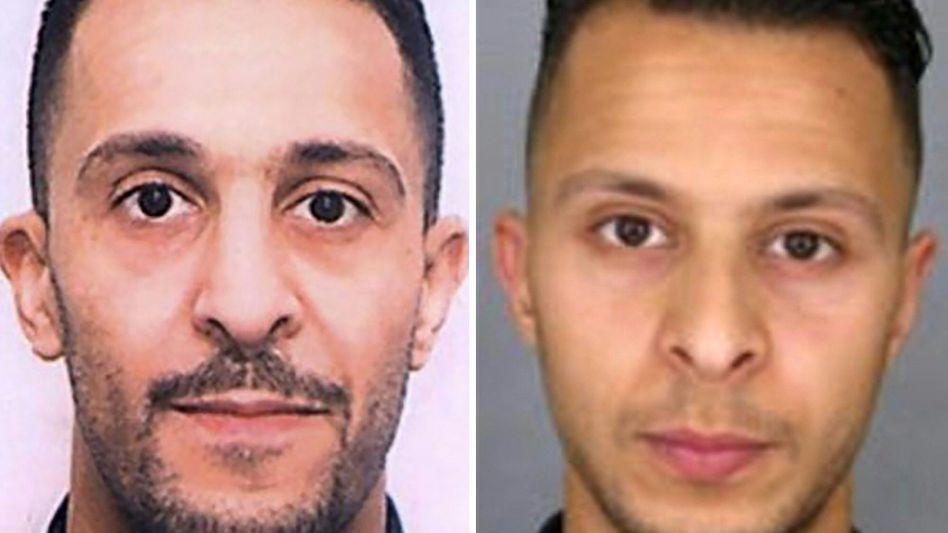 Terroristen Brahim Abdeslam (l.), Salah Abdeslam